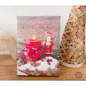 クリスマス雑貨 Christmas xmas かわいい ディスプレイ イルミネーション アンティーク イラスト  / LEDピクチャーライトコレクション キャンドル|zakka-candy