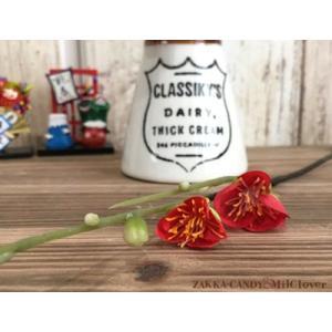 お正月飾り 正月 しめ縄作り ハンドイメイド  フェイクグリーン インテリア ナチュラル 和風 / ミニ梅ピックレッド|zakka-candy