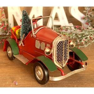 ノスタルジックデコ ティンクリスマスカー レトロカー  プレゼントRxG / 車 プレンゼント present ディスプレイ 可愛い かわいい  レトロ アンティーク|zakka-candy
