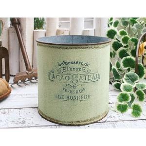 アンティーク調 フラワーポット ガトーサークル M グリーン/ ガーデン ガーデニング 雑貨 ナチュラル インテリア おしゃれ かわいい プランター 鉢 寄せ植え|zakka-candy