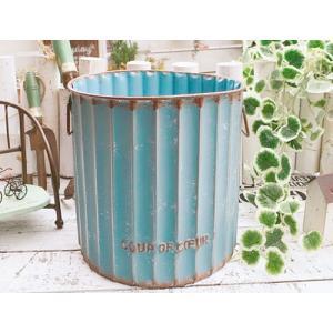 アンティーク調 フラワーポット ロリエフボーサークル ブルー / ガーデン ガーデニング 雑貨 ナチュラル インテリア おしゃれ かわいい プランター 鉢 寄せ植え|zakka-candy