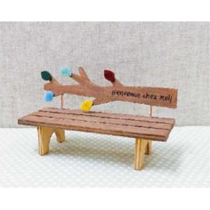 木製オブジェ フォレコルティーレ ブランシュベンチ リーフ オータム  クリスマス雑貨 オブジェ 置き物 置物 インテリア雑貨 zakka-fleur