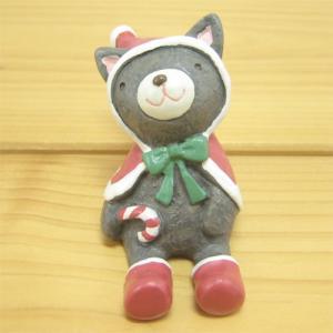 ノーティーハッピークリスマス ネコ ノーティーマスコット(NAUGHTY) 置物 オブジェ インテリア 雑貨 小物|zakka-fleur