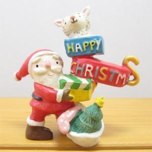 ノーティー ノーティーエンジョイクリスマス ヒツジ NAUGHTY 置物 オブジェ インテリア 雑貨 小物 クリスマス雑貨 かわいい雑貨 zakka-fleur