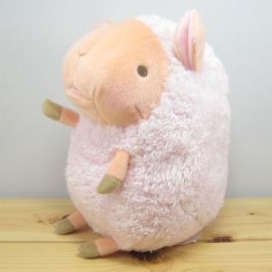 ひつじ ぬいぐるみ baby nature(ベイビーナチュレ) ひつじ(ピンク) ぬいぐるみ Mサイズ 羊 ヒツジ グッズ 雑貨|zakka-fleur