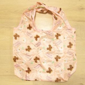 くまのがっこう スマートエコバッグ ピンク 雑貨 エコバッグ 折り畳みバッグ トートバッグ 買い物バッグ 折りたたみ ジャッキーグッズ|zakka-fleur