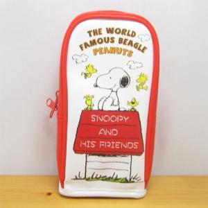 スヌーピーペンケース ピーナッツ スヌーピー スタンドポーチ ハウス PEANUTS SNOOPY ペンポーチ 筆箱 おしゃれ かわいい グッズ|zakka-fleur