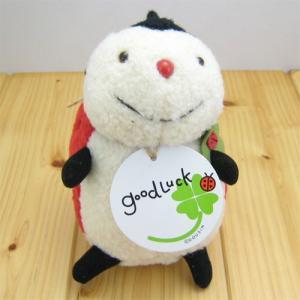 グッドラック(goodLuck) てんとう虫のテンテン ぬいぐるみSサイズ|zakka-fleur