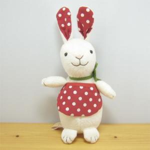 童心 goodLuck(グッドラック) ぬいぐるみSサイズ ウサギのポルカ うさぎ 雑貨 うさぎ ぬいぐるみ 兎 雑貨|zakka-fleur