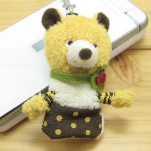 携帯ストラップ グッドラック クマのペチカ・携帯クリーナー(パペットタイプ) goodLuck オシャレ スマホ グッズ くまグッズ ウマ アイテム|zakka-fleur