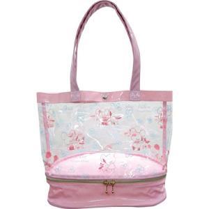 くまのがっこう サマーバッグシリーズ ファスナー付きサマーバッグ(ピンク) プールバッグ ビーチバッグ 子供 レディース 透明 スイミング 水泳 水着入れ|zakka-fleur