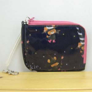 くまのがっこう 魔女柄 パスケース ピンク パスケース レディース ジャッキー 雑貨 かわいい おしゃれ|zakka-fleur