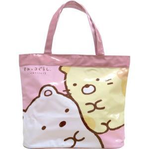 プールバッグ すみっコぐらし PVCビニールバッグシリーズ ビッグトート(ピンク) 子供 キッズ 幼稚園 小学校|zakka-fleur