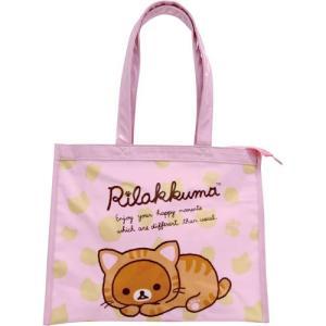 プールバッグ リラックマ PVCビニールバッグシリーズ レッスンバッグ(ピンク)子供 キッズ 幼稚園 小学校|zakka-fleur