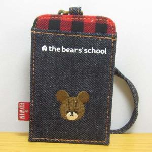 くまのがっこう くまのがっこう×EDWINシリーズ バッファローチェック パスケース  定期入れ ICカード ジャッキーグッズ グッズ レディース ベア くまの学校 zakka-fleur