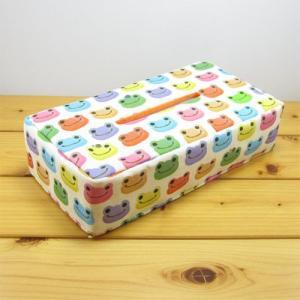 かえるのピクルス(カエルのピクルス) にじいろシリーズ  生活雑貨 ティッシュボックスカバー カエル雑貨 カエルの置物 ケース ボックス|zakka-fleur