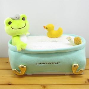 かえるのピクルス バスタイムシリーズ ピクルス バスタイム ティッシュカバー カエルのピクルス Bath time カエル雑貨 カエルの置物 ケース ボックス|zakka-fleur