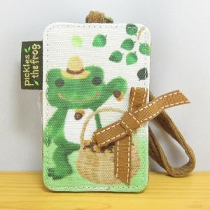 かえるのピクルス 森のピクルスシリーズ パスケース カエルのピクルス 定期入れ ICカード 社員証 身分証 レディース 子供 雑貨 かわいい zakka-fleur