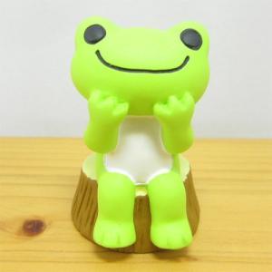 かえるのピクルス フィギュアシリーズ ピクルス フィギュア 切り株 カエルのピクルス 雑貨 オブジェ 置物 カエル雑貨|zakka-fleur