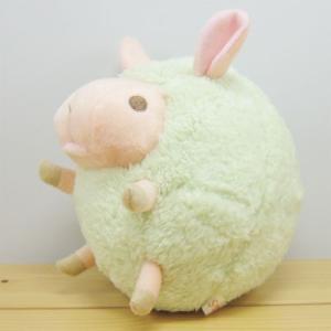 ひつじ ぬいぐるみ まんまるbaby nature(ベイビーナチュレ) ひつじ(グリーン) Mサイズ 羊 ヒツジ グッズ 雑貨|zakka-fleur