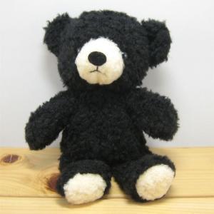 日本製くまのぬいぐるみ モコパルッチ(mocopalcchi) クマのフカフカ ぬいぐるみ Sサイズ ブラック 童心 zakka-fleur