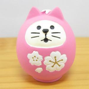 デコレ コンコンブル まったりマスコット 桜コンコンブル 桜猫だるま  DECOLE concombre デコレ 雑貨 オブジェ 置物 インテリア かわいい|zakka-fleur