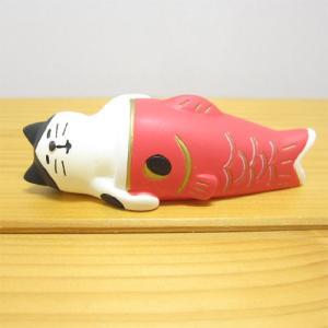デコレ コンコンブル 2020五月飾り すやすや鯉のぼり猫 DECOLE concombre 端午の節句 節句 5月5日 子供の日 こいのぼり 雑貨 オブジェ 置物 インテリア雑貨|zakka-fleur