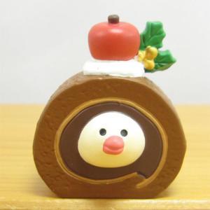 デコレ コンコンブル メリークリスマス コンブル アップルパーティ 文鳥スイーツ ココアロール DECOLE concombre CHRISTMAS 雑貨 オブジェ 置物 インテリア|zakka-fleur