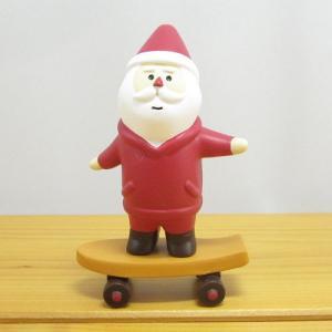 デコレ コンコンブル メリークリスマス コンブル アップルパーティ スケボーサンタ  DECOLE concombre CHRISTMAS 雑貨 オブジェ置物 インテリア かわいい|zakka-fleur