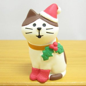 デコレ コンコンブル メリークリスマス コンブル アップルパーティ Merryにゃんこ  DECOLE concombre CHRISTMAS 雑貨 オブジェ置物 インテリア かわいい|zakka-fleur