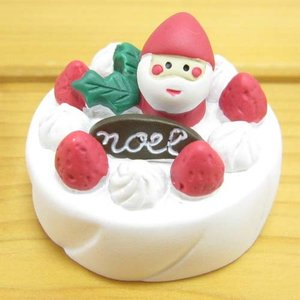 デコレ コンコンブル Holly Jolly CHRISTMAS クリスマスケーキ DECOLE concombre クリスマス雑貨 オブジェ 置物 インテリア かわいい zakka-fleur