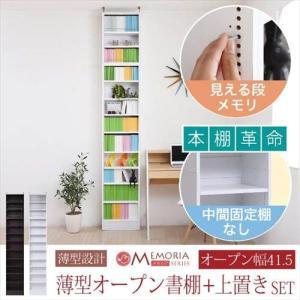 MEMORIA 棚板が1cmピッチで可動する 薄型オープン幅41.5 上置きセット zakka-gu-plus