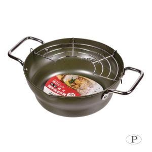 油がハネにくい段付仕様。熱伝導率が良く、油なじみのいい鉄製天ぷら鍋です。 製造国:中国 素材・材質:...