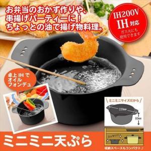 天ぷら鍋 小さい ミニ IH対応 両手 揚げ物 鍋 日本製