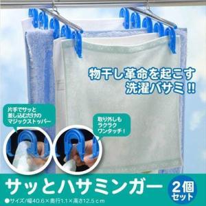 洗濯物革命 簡単 ピンチハンガー ハサミンガー 2個組 洗濯バサミ
