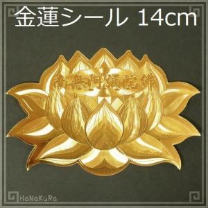 金蓮 シール 14cm 1枚 zakka-hanakura