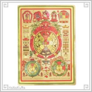風水 用品 中国 九宮八卦 両面 カード 1枚 zakka-hanakura
