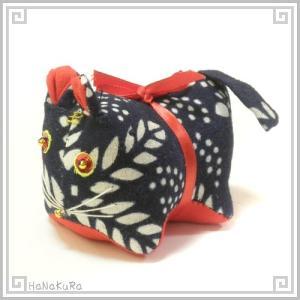 ぬいぐるみ 藍染め 虎 寅 トラ 干支 布製 十二支 手作り 綿 コットン|zakka-hanakura