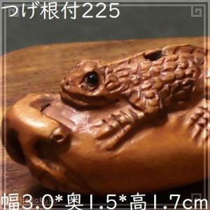 根付け 木彫り 彫刻 225 蜥蜴 トカゲ 天然木 つげ 黄楊木 柘植 手彫り 一点もの|zakka-hanakura