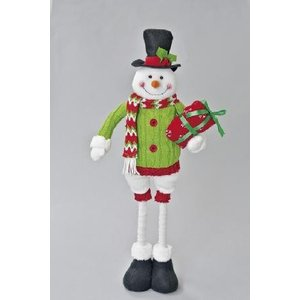 クリスマス用品 人形 オブジェ セノビックルM スノーマン/AWT1522|zakka-littlemama
