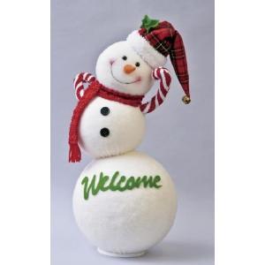 クリスマス用品 人形 置物 オブジェ まんまるころりんスノーマン/AWT1560|zakka-littlemama
