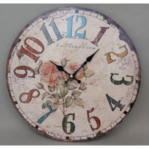 ROUND WALL CLOCK ANTIQUE|zakka-littlemama