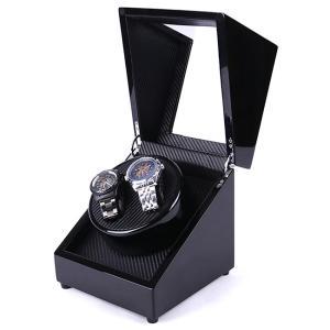 2台巻ワインディングマシーン DL-200902(ワインディング マシーン 腕時計 2本 2台巻 時計 保管 ケース 自動 巻き) 1-2W|zakka-nekoya