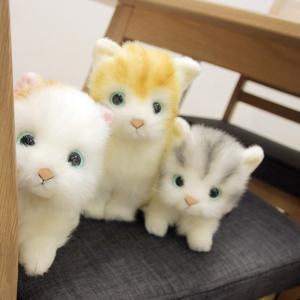 プレゼントにも人気のネコのかわいいぬいぐるみ 6種類のねこから選べる!本物の猫に近い作りの心も和む可...