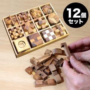 ロックスモーション ウッドパズル 12個セット(木製 立体パズル 大人 子供 高齢者 知育 おもちゃ 脳トレ 立体 パズル 脳)