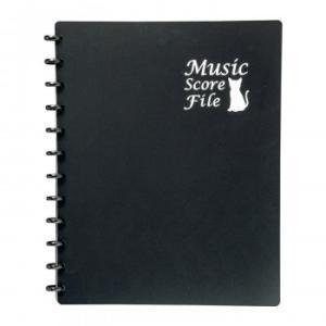 ミュージックスコアファイル クリアポケット 楽譜ファイル 収納|zakka-noble-beauty