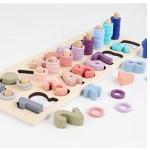 木のおもちゃ 楽しく勉強 知育玩具  数字 かず 算数 パズル おしゃれ プレゼント 男の子 女の子|zakka-noble-beauty