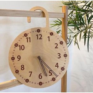 木製 掛け時計 置き時計 クロック ナチュラル リビング こども部屋 かわいい プレゼント 23-32cm 450g 木のおもちゃ zakka-noble-beauty