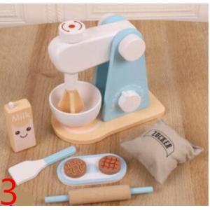 木のおもちゃ(3) 朝食セット ミキサー パンケーキ  おままごと キッチン 木製 おしゃれ プレゼント 男の子 女の子|zakka-noble-beauty