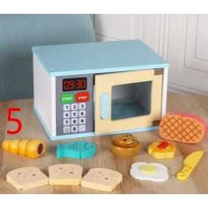 木のおもちゃ(5) オーブン レンジ セット 料理 おままごと キッチン 木製 おしゃれ プレゼント 男の子 女の子|zakka-noble-beauty
